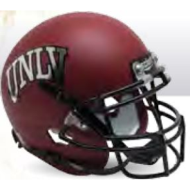 UNLV Runnin Rebels Matte Red Schutt Mini Football Helmet Desk Caddy