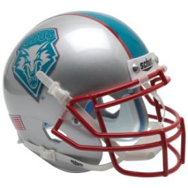 New Mexico Lobos Blue Decal Schutt XP Authentic Mini Football Helmet