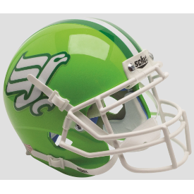 North Texas Mean Green Flying Worm Schutt XP Authentic Mini Football Helmet