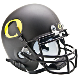 Oregon Ducks Black Schutt XP Authentic Mini Football Helmet