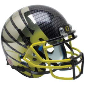 Oregon Ducks Smoke AquaTech Wing Yellow Mask Schutt XP Authentic Mini Football Helmet