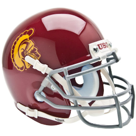 USC Trojans Schutt XP Authentic Mini Football Helmet