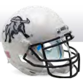 Utah State Aggies Big Blue Schutt XP Authentic Mini Football Helmet