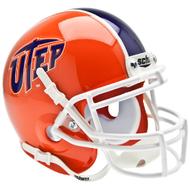 UTEP Miners Schutt XP Authentic Mini Football Helmet