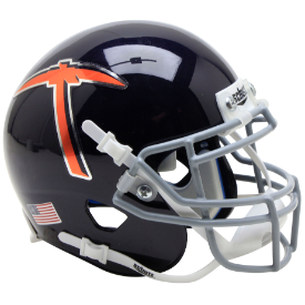UTEP Miners Navy Blue With Pickaxe Schutt XP Authentic Mini Football Helmet