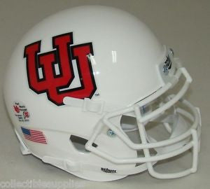 Utah Utes White UU2 Schutt XP Authentic Mini Football Helmet