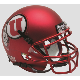 Utah Utes Satin Red Schutt XP Authentic Mini Football Helmet
