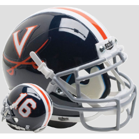 Virginia Cavaliers Navy 16 Schutt XP Authentic Mini Football Helmet