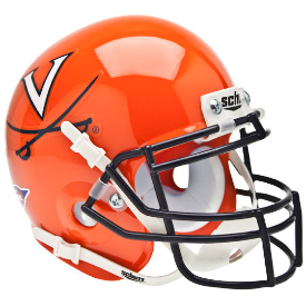 Virginia Cavaliers Orange Schutt XP Authentic Mini Football Helmet