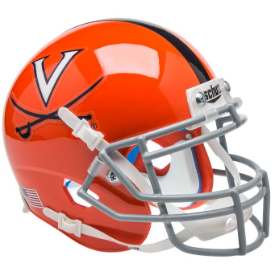 Virginia Cavaliers Orange w/Stripe Schutt XP Authentic Mini Football Helmet