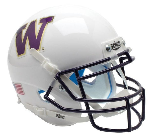 Washington Huskies White Schutt XP Authentic Mini Football Helmet