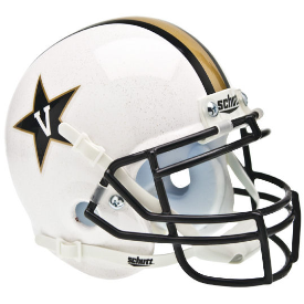 Vanderbilt Commodores White Schutt XP Authentic Mini Football Helmet