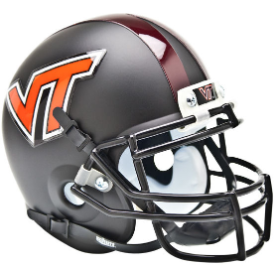 Virginia Tech Hokies Black Schutt XP Authentic Mini Football Helmet