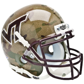 Virginia Tech Hokies Camo Schutt XP Authentic Mini Football Helmet