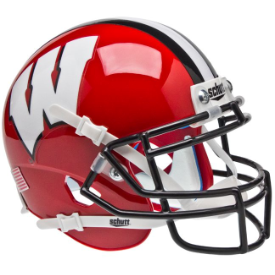Wisconsin Badgers Red w/Black Mask Schutt XP Authentic Mini Football Helmet