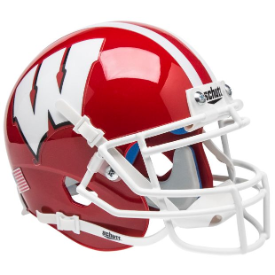 Wisconsin Badgers Red w/White Mask Schutt XP Authentic Mini Football Helmet