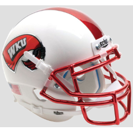 Western Kentucky Hilltoppers White w/Chrome Mask Schutt XP Authentic Mini Football Helmet