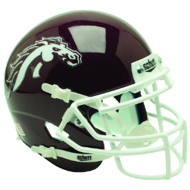Western Michigan Broncos Brown Schutt XP Authentic Mini Football Helmet