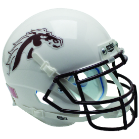 Western Michigan Broncos White Schutt XP Authentic Mini Football Helmet
