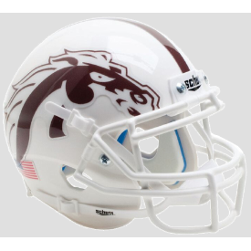 Western Michigan Broncos White w/White Mask Schutt XP Authentic Mini Football Helmet