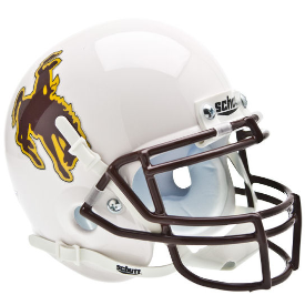 Wyoming Cowboys Schutt XP Authentic Mini Football Helmet