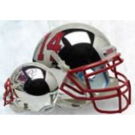 Fresno State Bulldogs Chrome Schutt XP Authentic Full Size Football Helmet