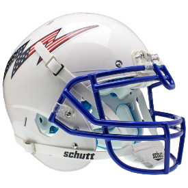 Air Force Falcons Flag Bolt Schutt XP Authentic Full Size Football Helmet