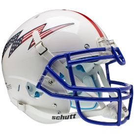 Air Force Falcons Flag Bolt w/Stripes Schutt XP Authentic Full Size Football Helmet