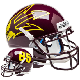 Arizona State Sun Devils Maroon Lg Pitchfork Schutt XP Authentic Full Size Football Helmet