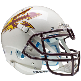 Arizona State Sun Devils White Schutt XP Authentic Full Size Football Helmet