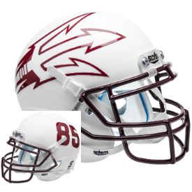 Arizona State Sun Devils White Lg Pitchfork Schutt XP Authentic Full Size Football Helmet