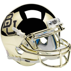 Baylor Bears Gold Chrome Schutt XP Authentic Full Size Football Helmet