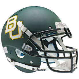 Baylor Bears Matte Green Schutt XP Authentic Full Size Football Helmet
