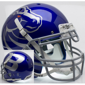 Boise State Broncos Blue Schutt XP Authentic Full Size Football Helmet
