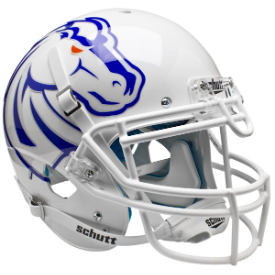 Boise State Broncos White Schutt XP Authentic Full Size Football Helmet