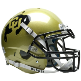 Colorado Buffaloes Schutt XP Authentic Full Size Football Helmet