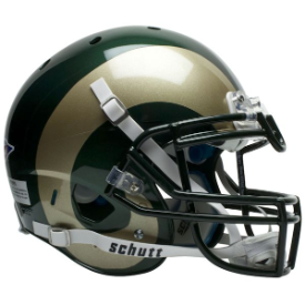 Colorado State Rams Schutt XP Authentic Full Size Football Helmet