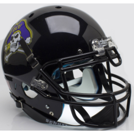 East Carolina Pirates Black Schutt XP Authentic Full Size Football Helmet