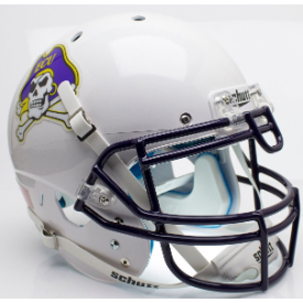 East Carolina Pirates White Schutt XP Authentic Full Size Football Helmet