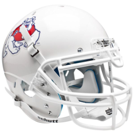 Fresno State Bulldogs White Schutt XP Authentic Full Size Football Helmet