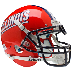Illinois Fighting Illini Schutt XP Authentic Full Size Football Helmet