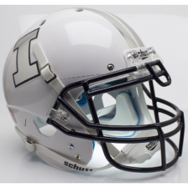 Illinois Fighting Illini Gray Ghost Schutt XP Authentic Full Size Football Helmet