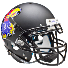 Kansas Jayhawks Matte Black Schutt XP Authentic Full Size Football Helmet