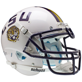 LSU Tigers White Schutt XP Authentic Full Size Football Helmet