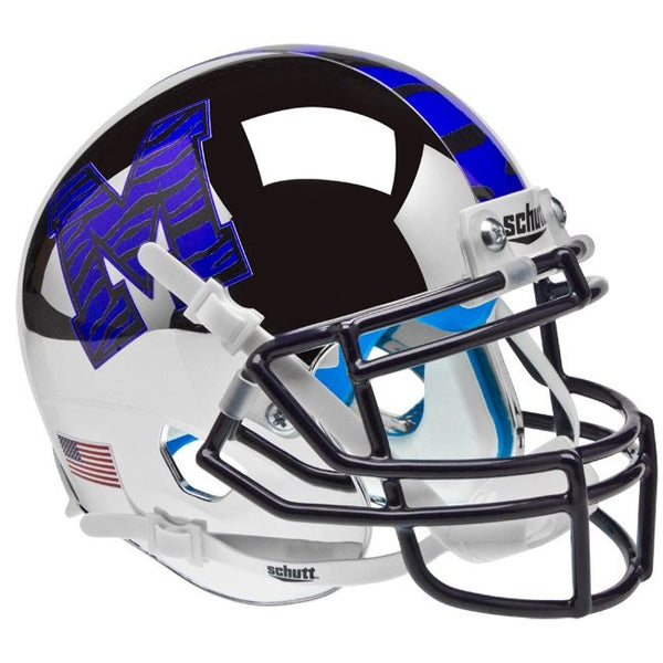 Memphis Tigers Chrome Schutt XP Authentic Full Size Football Helmet