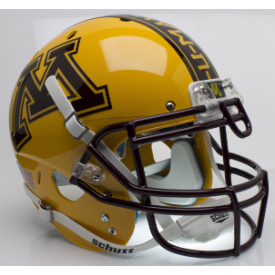 Minnesota Golden Gophers Gold Schutt XP Authentic Full Size Football Helmet