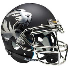 Missouri Tigers Chrome Logo Schutt XP Authentic Full Size Football Helmet