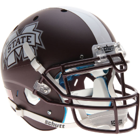 Mississippi State Bulldogs Matte Maroon Schutt XP Authentic Full Size Football Helmet