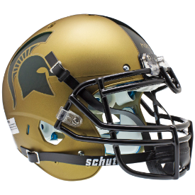 Michigan State Spartans Gold Schutt XP Authentic Full Size Football Helmet