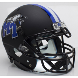Middle Tennessee State Blue Raiders Matte Black Schutt XP Authentic Full Size Football Helmet